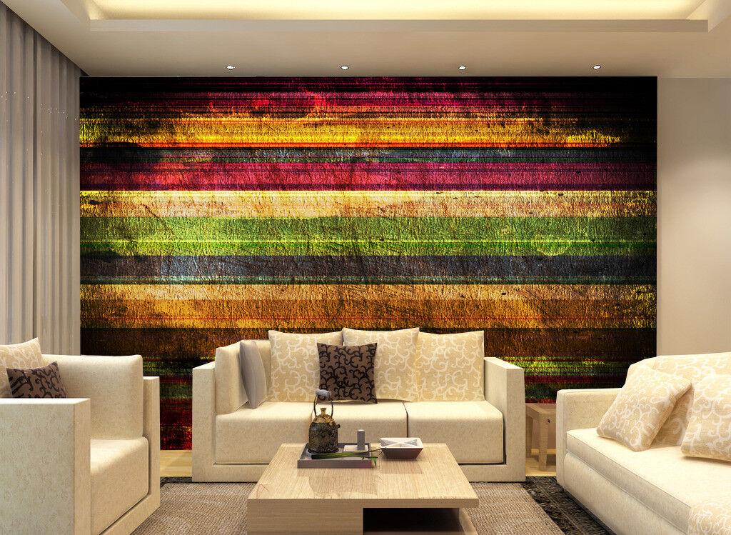 3D Farbige Alte Holzbrett 93 Tapete Wandgemälde Tapete Tapeten Bild Familie DE