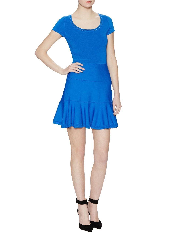 Diane von Furstenberg St. Petersburg Clean Clean Clean Dress IN IRIS blueE P S 246ef6