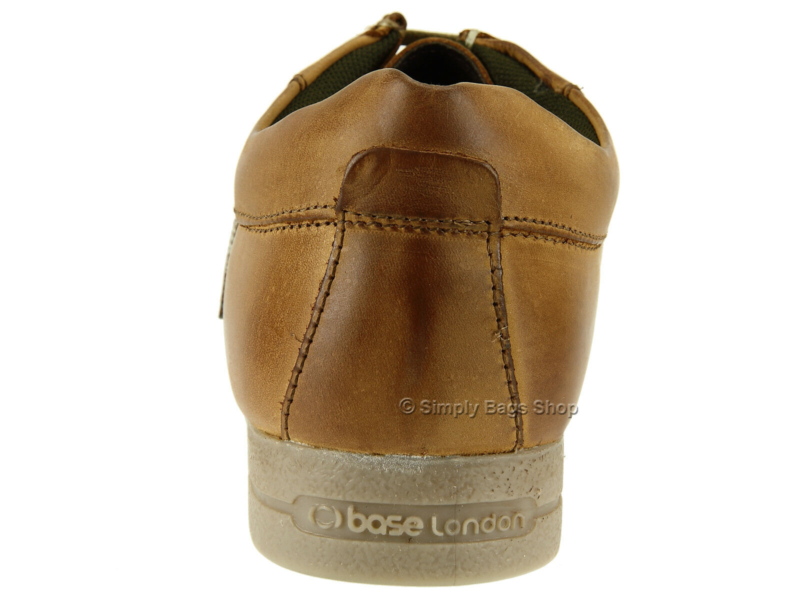 Base London   Herren Soft Leder Comfortable Casual Schuhes Schuhes Casual With Gripping Rubber Sole 9b1bc1