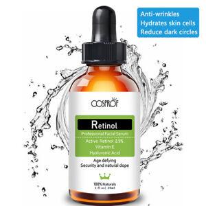 PURE-RETINOL-VITAMIN-A-2-5-Anti-Aging-Wrinkle-Acne-Cream-Facial-Face-Serum-New