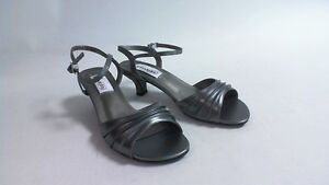 14f3d33228e Image is loading New-Dyeables-Wedding-Shoes-Pewter-Metallic-Brielle-US-