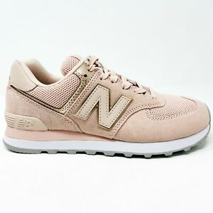 New Balance 574 Oyster Pink Womens Suede Running Shoes WL574MEC | eBay