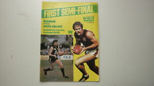 SANFL-FOOTBALL-BUDGET-1981-SEMI-FINAL-SOUTH-ADELAIDE-v-NORWOOD