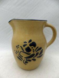 "Pfaltzgraff Folk Art pattern –  medium size Beverage Pitcher - 6 5/8"" -USA - EUC"