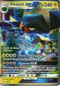 Pokemon-Vikavolt-GX-Holo-45-145-Proxy-Karte-Donarion
