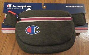 Champion-Attribute-Waist-Pack-Fanny-Pack-Bag-Dark-Grey-Waistbag-CH1005-020-New