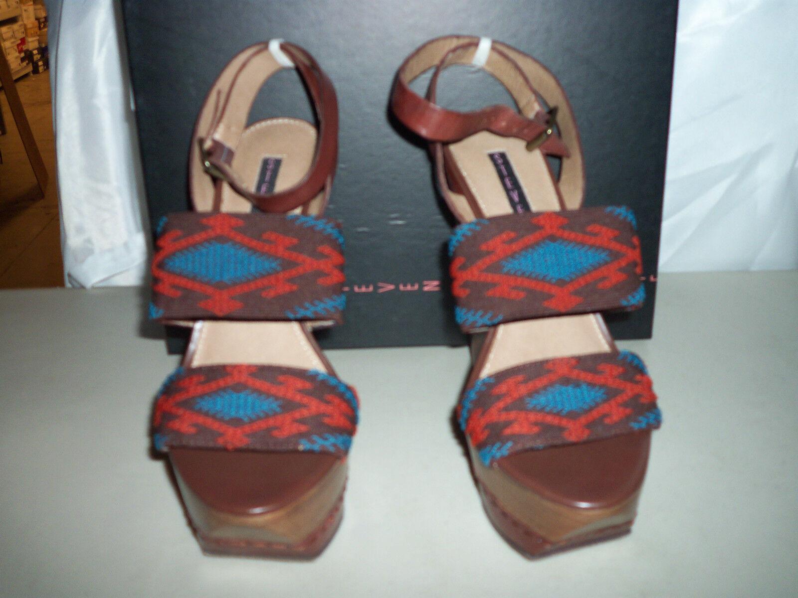 Steven NEU Damenschuhe Bernidet Multi Fabric Wedge Heels 7.5 M Schuhes