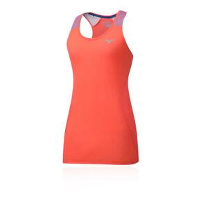 Mizuno-Da-Donna-Aero-Tank-Top-rosso-Sport-Running-traspirante-leggera