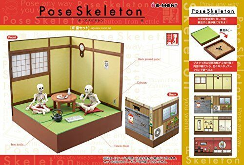 New Pose skeleton Japanese-style Tatami set from Re-Ment Japan