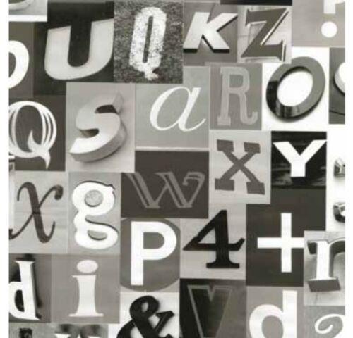 Película adhesiva-muebles diapositiva Alpha cifras negro Weiss 45 cm x 200 cm lámina de decoración