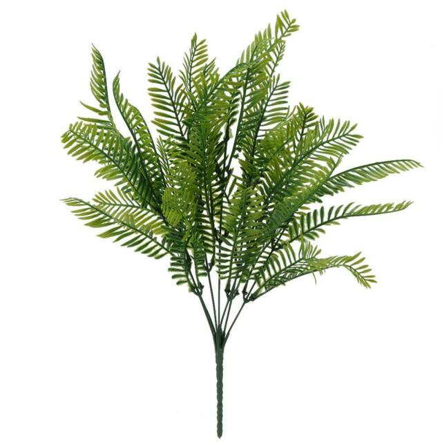 Artificial Fake Persian Leaves Grass Fern Plant Simulation Flower Potted Decor