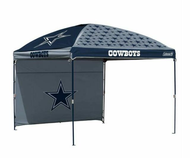 size 40 3293a ec5d7 Dallas Cowboys NFL 10' X 10' Dome Tailgate Party Canopy Logo Wall Tent  Carry Bag