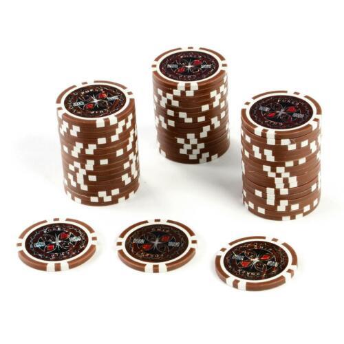 50 Poker-Chips Wert 10000 Laserchip 12g Metallkern Jetons Coin für Pokerkoffer