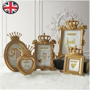 Diy Gold Crown Resin Photo Picture Frame Baroque Luxury Style Home Decor Gift Uk Ebay