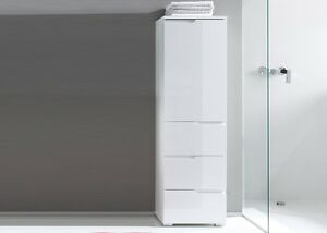 Outstanding Details About Cellini White Gloss Slim Tallboy Bathroom Cupboard Narrow Storage Cabinet Unit Home Interior And Landscaping Palasignezvosmurscom