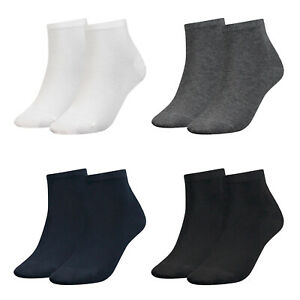 Tommy-Hilfiger-Ladies-Quarter-Socks-2er-Pack-Th-Cotton-35-42-Plain