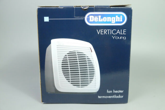 DELONGHI VERTICALE YOUNG HVY1030 FAN HEATER 120V 1500W GRAY W/ WHITE FACE PLATE
