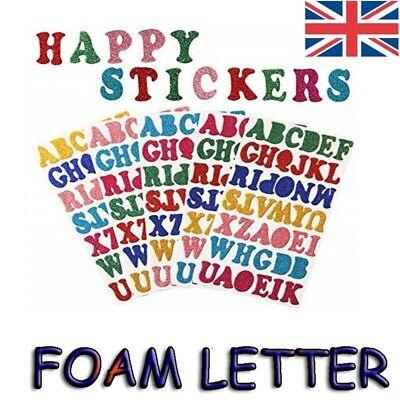Alphabet Sticker Adhesive Foam Numbers Glitter Kids Craft Education Letter Words