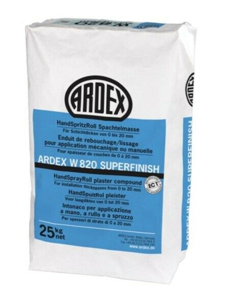 ARDEX W 820 Superfinish HandSpritzRoll Spachtelmasse 25 KG