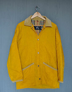Burberry-Quilted-Jacket-Coat-Women-039-s-Size-M-Nova-Check