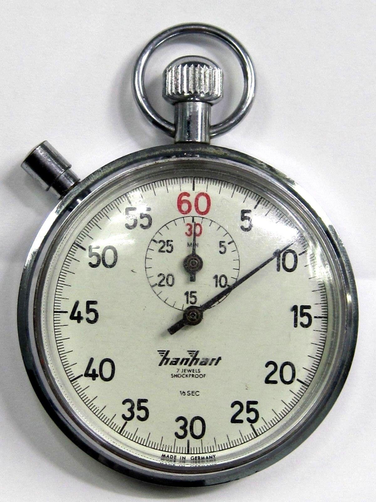 HAN HART STOPWATCH 7 JEWELS, 1960'S  WATER PredECTED, ANTIMAGNETIC