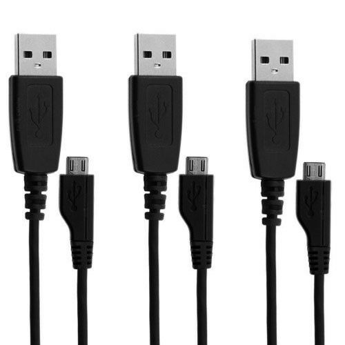 3x Pack Samsung APCBU10BBE Micro-USB Charge & Sync Data Cable OEM Original NEW!