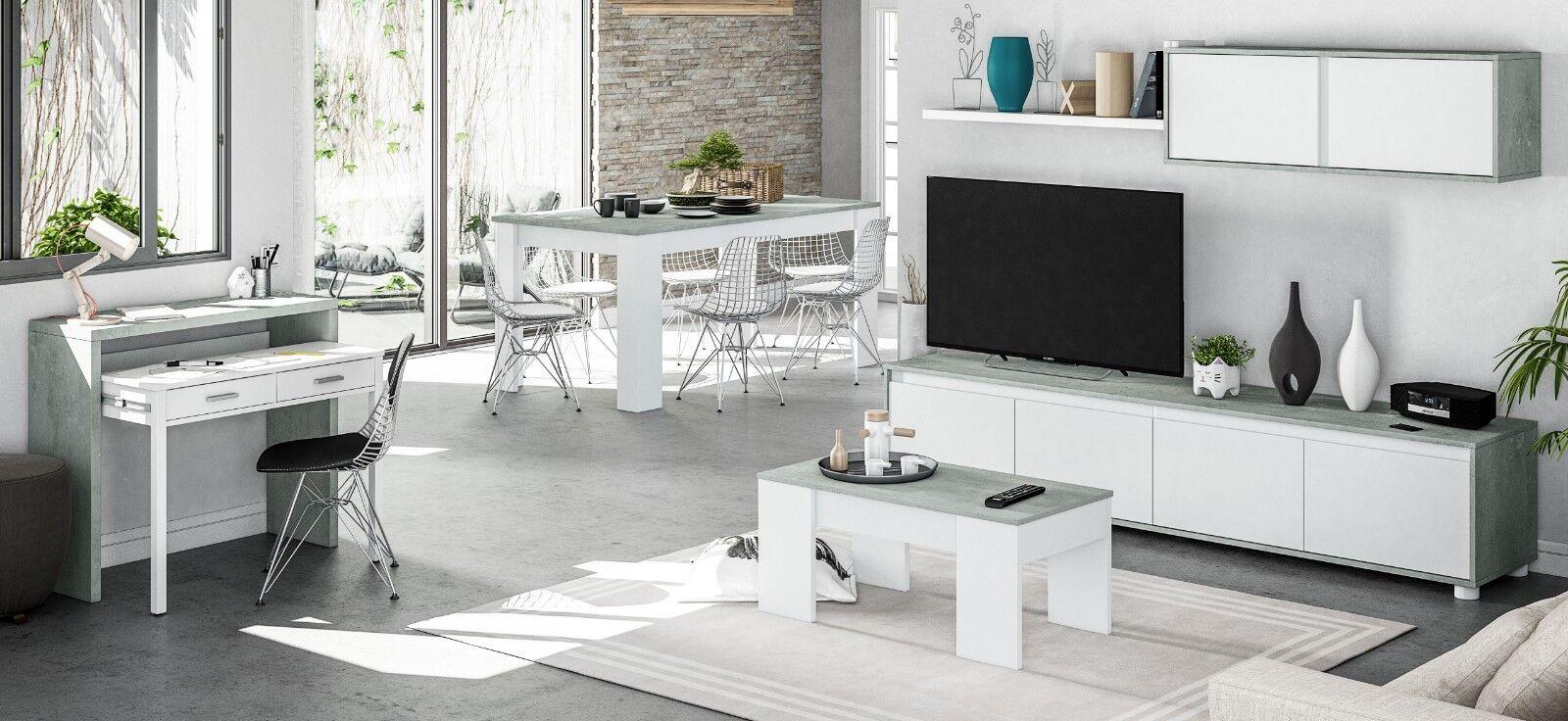 Pack mueble salon modular mesa centro mesa comedor y escritorio extensible