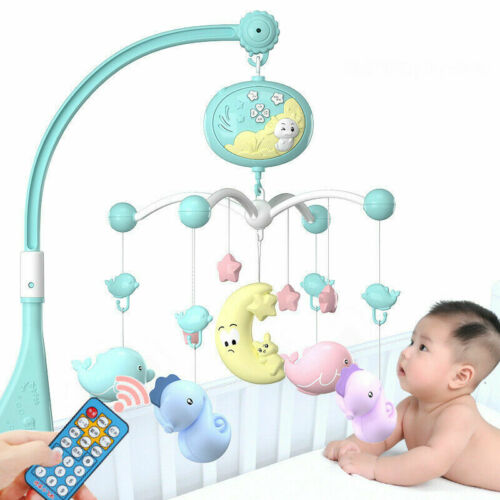 2019 Baby Musical Crib Bed Cot Mobile Stars Dreams Light Nusery Lullaby Toy