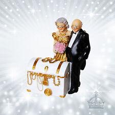 50 Jahre goldene Hochzeit Schatztruhe Geldgeschenk Spardose Jubilar Paar  US36