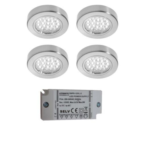 12 V sous armoire ronde DEL Plafonnier 2 W Blanc Froid//Blanc Chaud