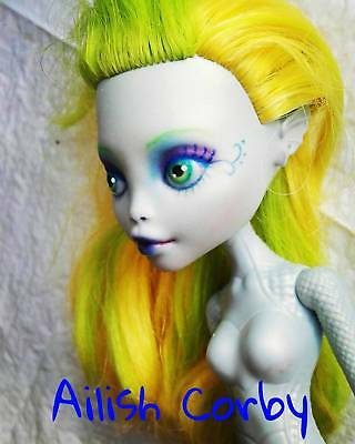 vestido No Incluido Lagoonafire Monster High Ooak Repaint MuÑeca Doll Lagoona To Help Digest Greasy Food
