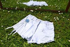 EUROPE kids Vtg 80s Denim Hot Pants Shorts Custom High Waist Distess sz 8 10 Q38