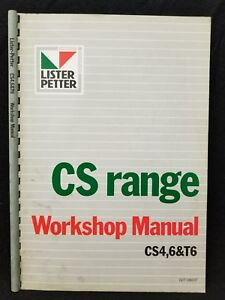 lister petter cs range workshop manual cs4 6 t6 ebay rh ebay co uk CS Diesel CS Diesel
