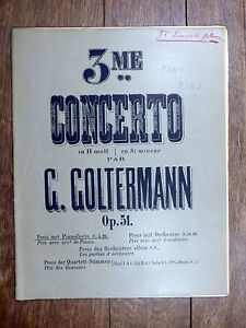 PARTITION-ANCIENNE-G-Goltermann-3e-CONCERTO-pr-violoncelle-avec-accomp-piano
