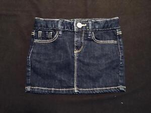 NWT-GapKids-Girls-Dark-Wash-Denim-Skirt-Size-5