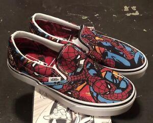 Vans-Classic-Slip-On-Marvel-Spider-Man-Black-Mens-9-5-Womens-11-NIB