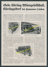 o. Reklame Gebr. Körting Luftfahrt Flugzeug Wright Flugzeug Hannover-Linden 1917
