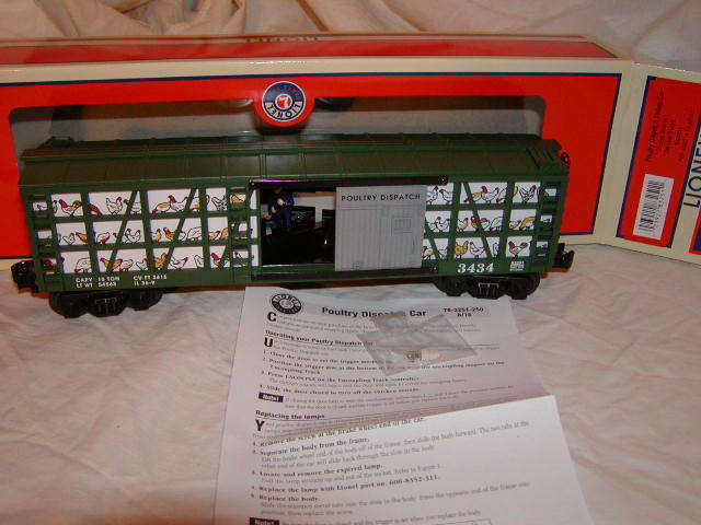 Lionel 6-83251 Poultry Dispatch Sweep Operating Car MIB Nuovo 2016 O 027 Sounds