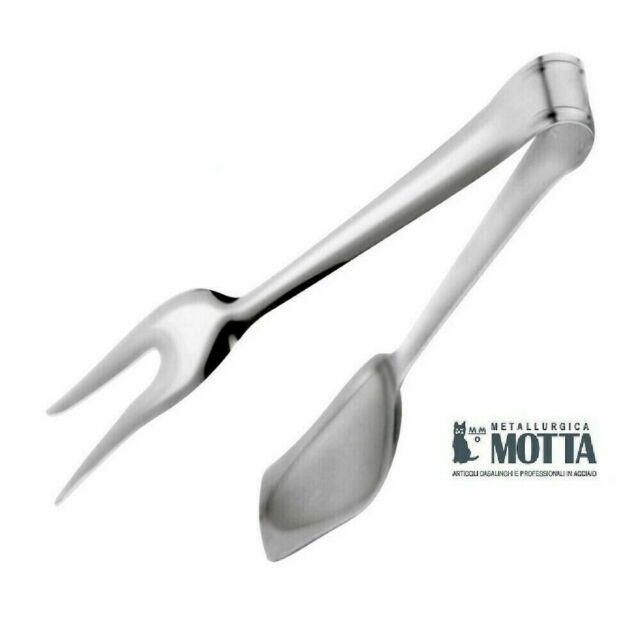 MOLLA ARROSTO PINZA CARNE INSALATA MULTIUSO ACCIAIO INOX MADE IN ITALY  MOTTA