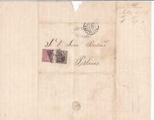 Spain 19th centuary stamps cover Ref 8412
