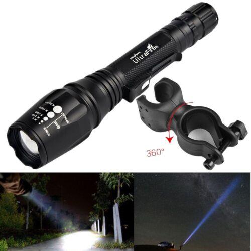 la flamme a 10000lm t6 tactique avec zoom lampe light chargeur /& battery