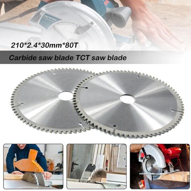 Hartmetall Sägeblatt 80 Zähne Kreissägeblatt Holz Grobschnitt 210x30mm TCT sägen