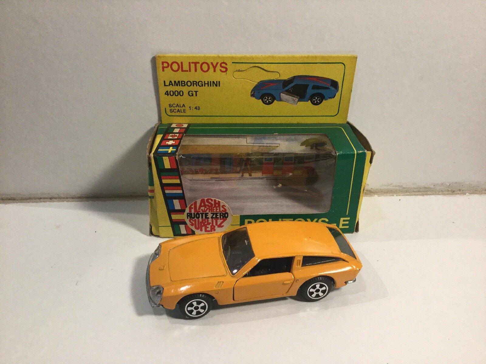 Vintage Politoys Lamborghini 4000 GT No 557 Within Its Original Box