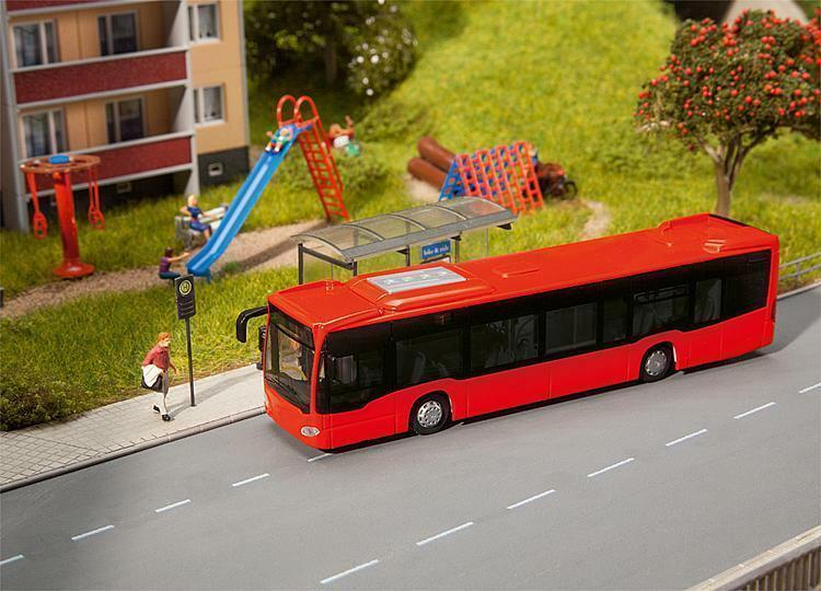 Faller 161556 - Car Car Car System Bus MB Citaro City Bus  rojo  00 H0 Gauge=1 87 Scale T48 bb0ae6