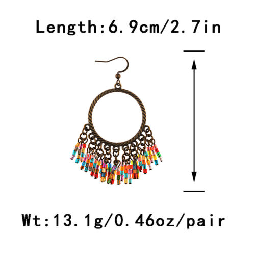 Hot Vintage Women/'s Bohemian Style Multicolor Shape Drop//Dangle Feather Earrings