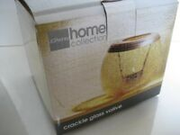 Jc Penney Home Collection Crackle Glass Votive Candle Holder Round Bronze