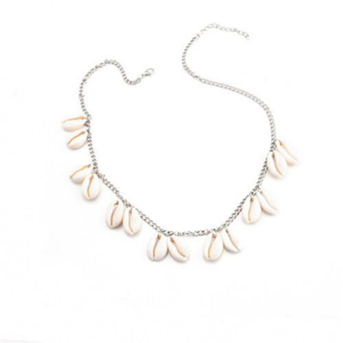 Summer Boho Conch Shell Chain Beach Necklace Sweater Chain Beach Jewelry L