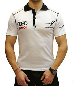 Handmade-Polo-Audi-Quattro-EMBROIDERED-White-Combed-Cotton-T-Shirt-Embroidery-RS