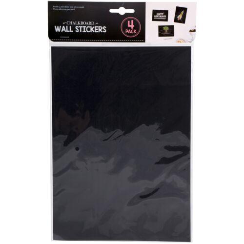 4 x A4 Chalk Board Autocollant Feuilles Craft étiquettes Wall Decals Tableau Noir Blackboard