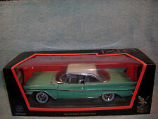 1/18 SCALE 1961 DESOTO ADVENTURER 2DR HARDTOP IN GREENWHITE TOP BY YAT-MING.